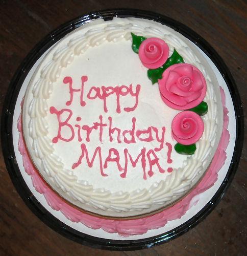Mama Happy Birthday Cake
