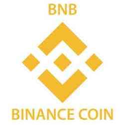 Binance-Logo mit Schriftzug