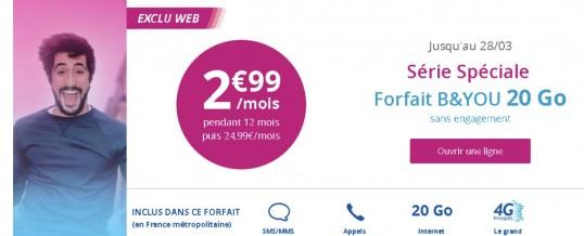 Bouygues Télécom réplique à la Vente Privée à 2,99€ de Free Mobile, mais ne s'aligne pas sur les services inclus