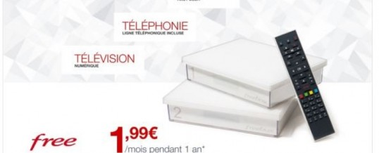 BON PLAN – Forfait Freebox plus option tv à 1€99