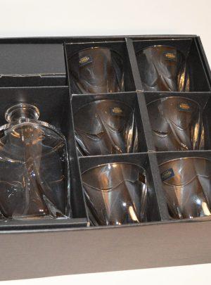 Quadro Whiskey set i krystalglas 1 + 6