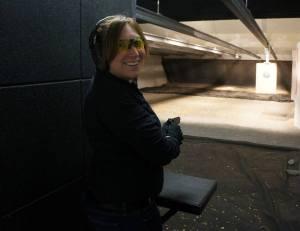 Krystal O'Connor Shooting Pistol