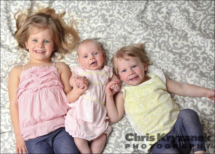 Three sisters baby girls photo