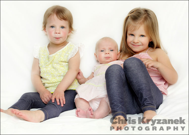 Three sisters baby girls photo