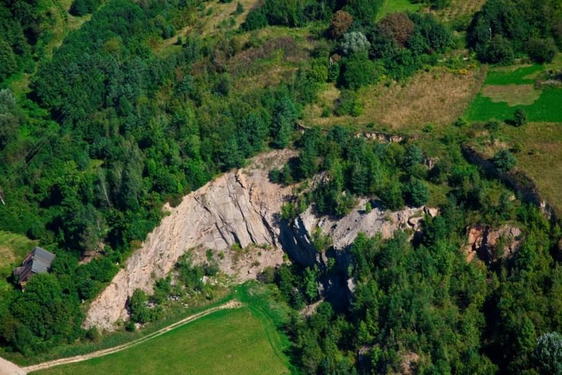 Odsłonięcie geologiczne w Dołach Biskupich (fot. arch. Gminy Kunów)