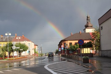 Podwójna tęcza nad Lipskiem (fot. K. Furmanek)