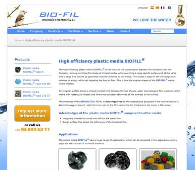 Bio-Fil: Productos