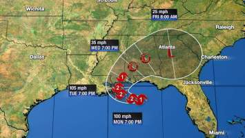 Noaa And Air Force Aircraft Reports That Sally Has Rapidly Strengthen Into A Hurricane