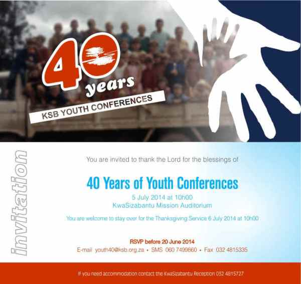 Youth Conference 40 years