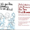 "CD Cover: Margret Galler - ""Let's give them something to talk about"""