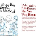 """CD Cover: Margret Galler - """"Let's give them something to talk about"""""""