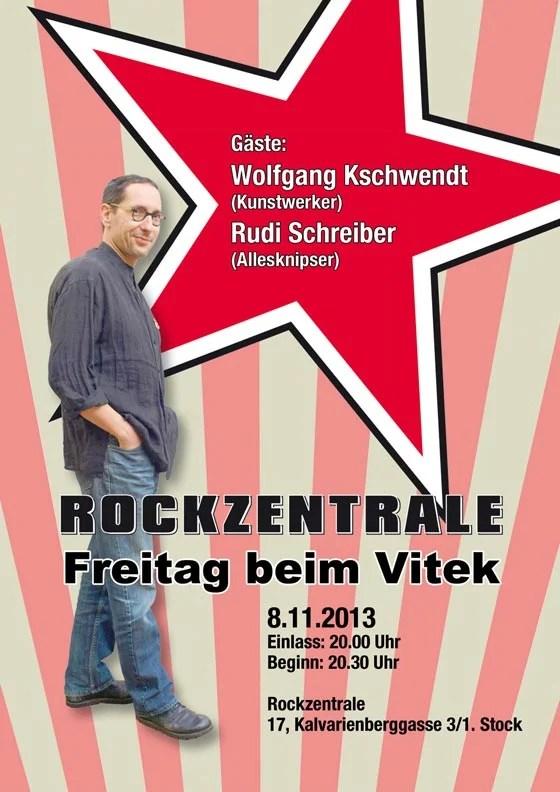 """Flyer """"Freitag beim Vitek"""" - Wohnzimmerclub - Jeden ersten Freitag im Monat"""