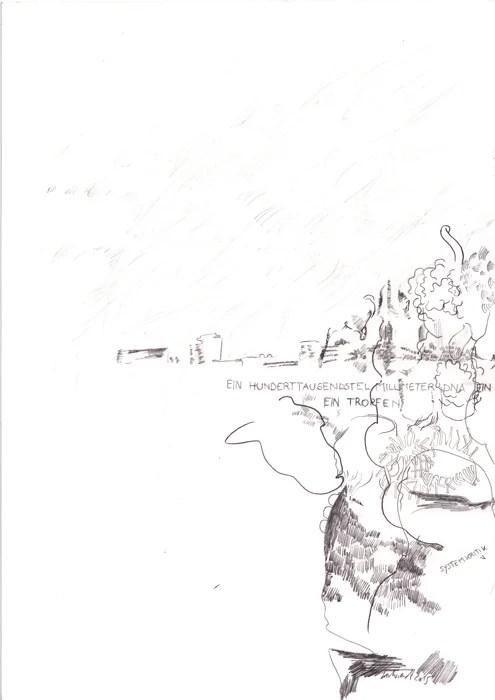 "Wolfgang Kschwendt - ""Ein hunderttausendstel Milimeter"" - Pencil on cardboard, DIN A4, 2015"