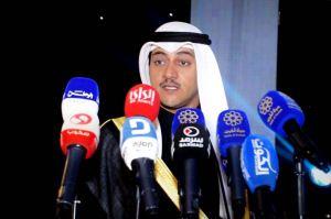 رئيس اللجنة العليا المنظمة للمعرض طلال جاسم الخرافي يلقي كلمته