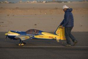 الطيار جابر أشنكاني واستعداد للطيران