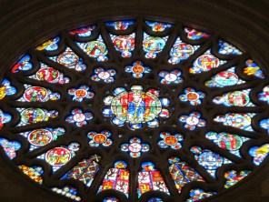 Stained glass in Burgos Cathedral