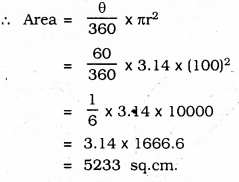 KSEEB SSLC Class 10 Maths Solutions Chapter 5 Areas Related to Circles Ex 5.3 26