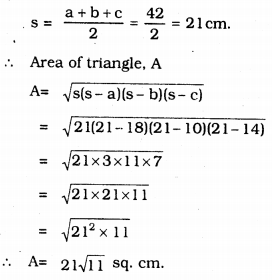 KSEEB Solutions for Class 9 Maths Chapter 8 Heron's Formula Ex 8.1 7