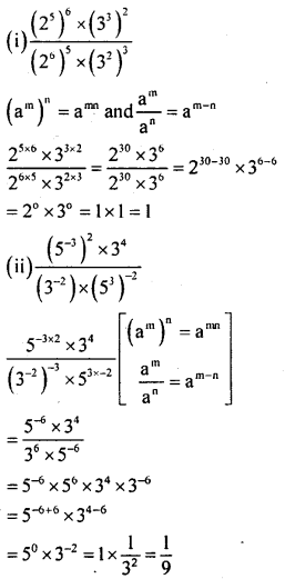 KSEEB Solutions for Class 8 Maths Chapter 10 Exponents Ex. 10.4 1