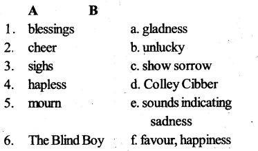 KSEEB SSLC Class 10 English Solutions Poetry Chapter 7 The Blind Boy 1
