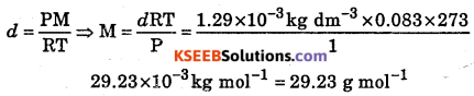 1st PUC Chemistry Question Bank Chapter 5 States of Matter - 15