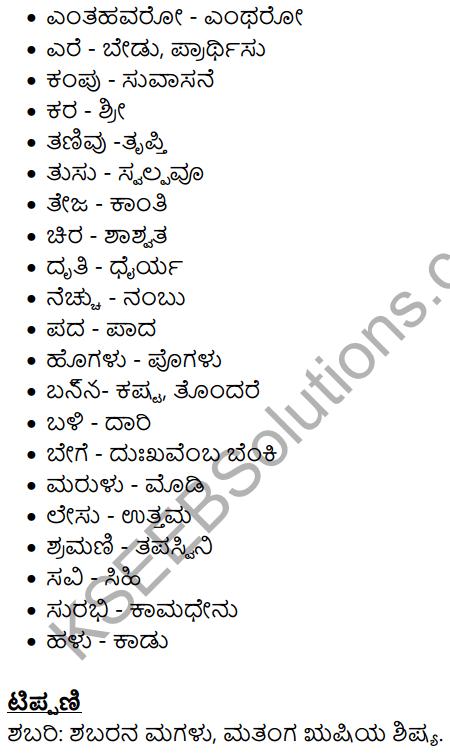 Shabari Summary in Kannada 8