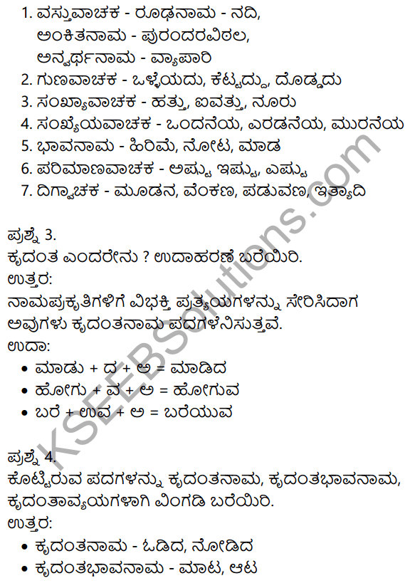 Siri Kannada Text Book Class 10 Solutions Gadya Chapter 8 Sukumara Swamiya Kate 15