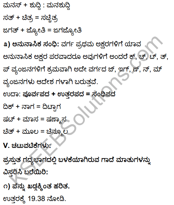 Tili Kannada Text Book Class 10 Solutions Gadya Chapter 2 Asi Masi Krishi 23