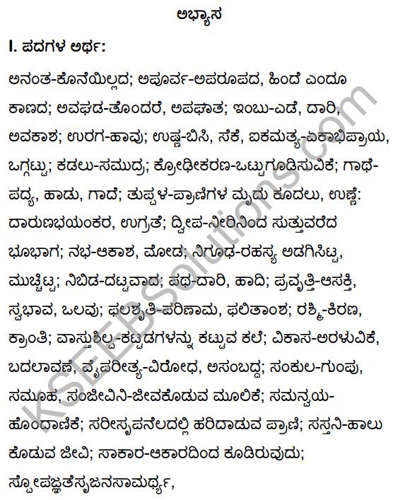 Tili Kannada Text Book Class 10 Solutions Gadya Chapter 4 Hakkigudugala Nigudha Jagattu 1