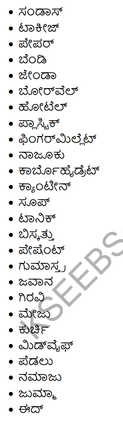 1st PUC Kannada Workbook Answers Nanartha Padagalu 6