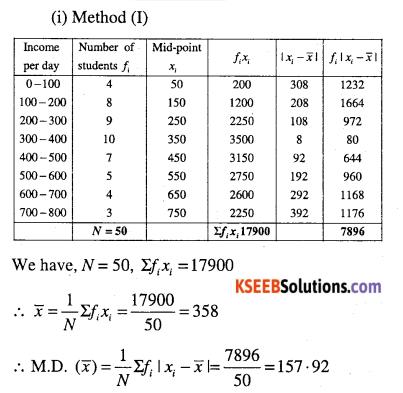 1st PUC Maths Question Bank Chapter 15 Statistics 14