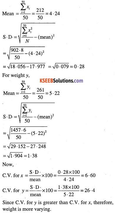 1st PUC Maths Question Bank Chapter 15 Statistics 47