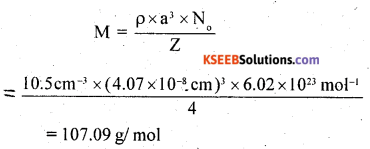 2nd PUC Chemistry Question Bank Chapter 1 The Solid State - 10