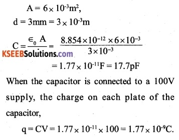 2nd PUC Physics Question Bank Chapter 2 Electrostatic Potential and Capacitance 11