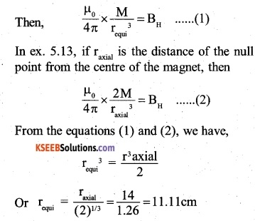 2nd PUC Physics Question Bank Chapter 5 Magnetism and Matter 9