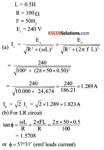 2nd PUC Physics Question Bank Chapter 7 Alternating Current 16
