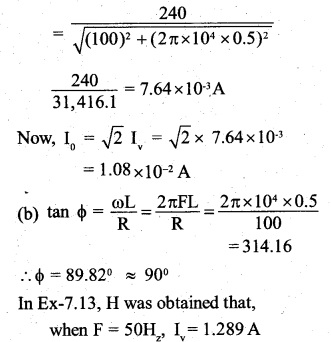 2nd PUC Physics Question Bank Chapter 7 Alternating Current 18