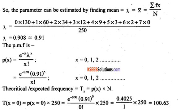 2nd PUC Statistics Model Question Paper 1 with Answers - 44