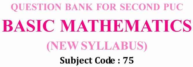 Karnataka 2nd PUC Basic Maths Question Bank with Answers