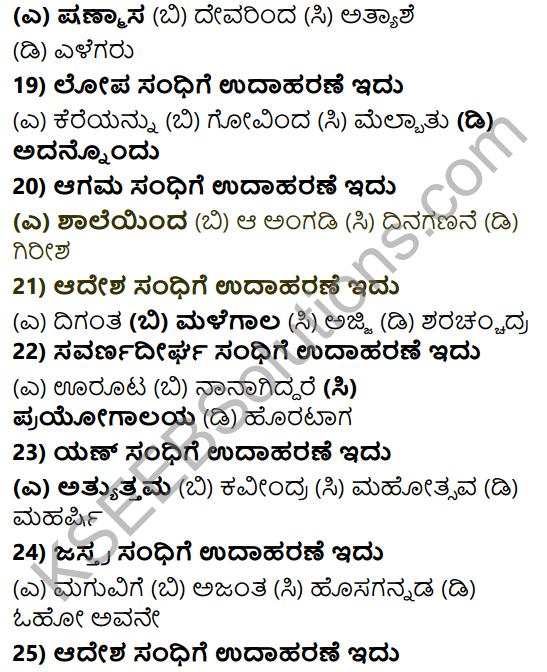 Karnataka SSLC Class 10 Tili Kannada Grammar Anvayika Vyakarana 11