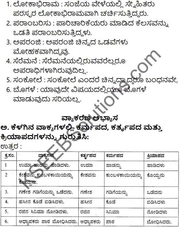 Siri Kannada Text Book Class 7 Solutions Gadya Chapter 7 Billa Habba 9
