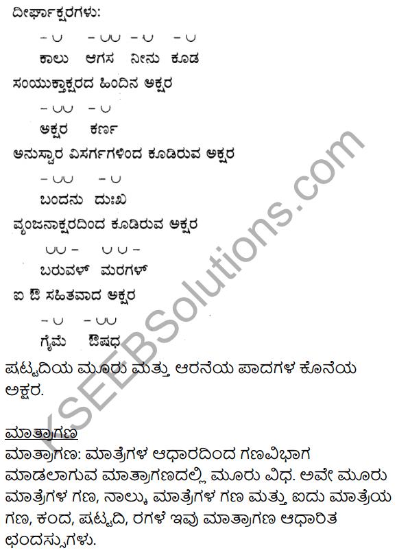 Siri Kannada Text Book Class 9 Solutions Padya Chapter 4 Niyatiyanar Miridapar 9