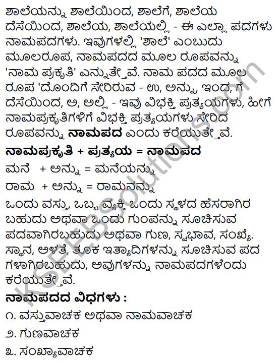 Tili Kannada Text Book Class 8 Saiddhantika Vyakarana Namapada - Vibhakti Pratyaya Galu 1