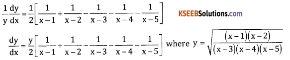 2nd PUC Basic Maths Question Bank Chapter 18 Differential Calculus Ex 18.5 - 7