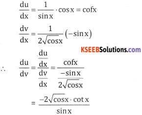 2nd PUC Basic Maths Question Bank Chapter 18 Differential Calculus Ex 18.6 - 11