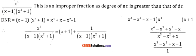 2nd PUC Basic Maths Question Bank Chapter 5 Partial Fractions Ex 5.1 - 5