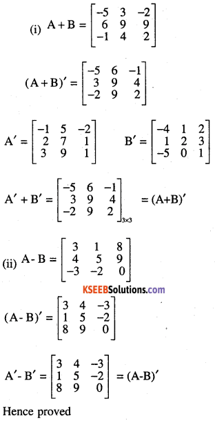 2nd PUC Maths Question Bank Chapter 3 Matrices Ex 3.3 1