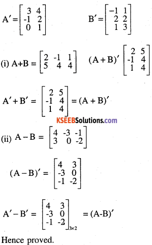 2nd PUC Maths Question Bank Chapter 3 Matrices Ex 3.3 3