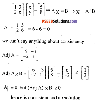 2nd PUC Maths Question Bank Chapter 4 Determinants Ex 4.6.3