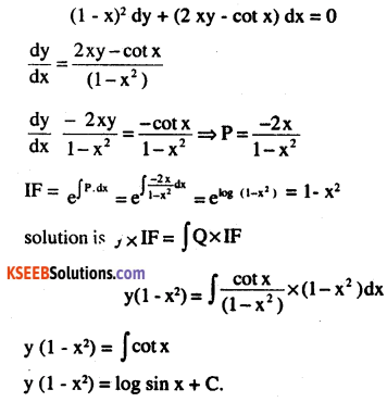 2nd PUC Maths Question Bank Chapter 9 Differential Equations Miscellaneous Exercise 39